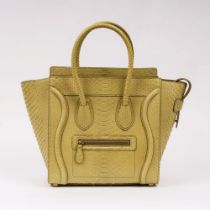 Céline. Micro Luggage Handbag Python.