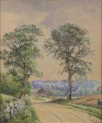 Anders Andersen-Lundby (Lundby 1841 - München 1923). Paar Aquarelle: Sommer und Winter.