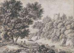 Ferdinand Kobell (Mannheim 1740 - München 1799). Idylle am Bach.