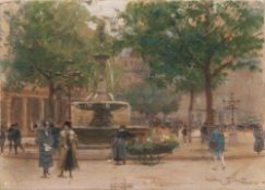 Victor Gilbert (Paris 1847 - Paris nach 1933). Blumenverkäuferin in Paris.