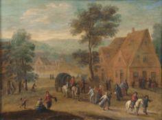 Abraham Govaerts (Antwerpen 1589 - Antwerpen 1626), zugeschr. Reges Treiben im Dorf.