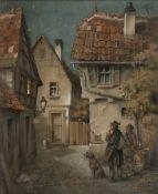 Heinz Geilfus (Gießen 1890 - Bad Nauheim 1956). Aufbruch zur Jagd.