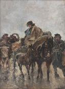 Gregor von Bochmann (Estland 1850 - Düsseldorf 1930). Fuhrwerk.