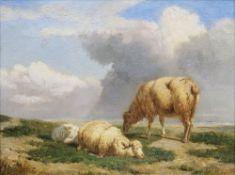 Eugène Verboeckhoven (Warneton 1799 - Brüssel 1881). Drei Schafe.