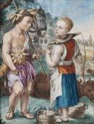 Französischer Meister tätig um 1800. Allegorie des Herbstes.