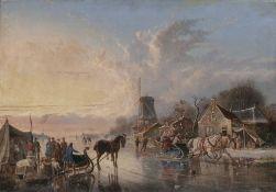 Simon van der Ley (Antwerpen 1790 - 1876). Eisvergnügen.