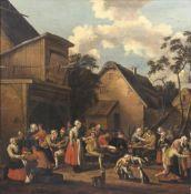 Pieter van Maes (um 1650 - nach 1703). Fest auf dem Dorf.