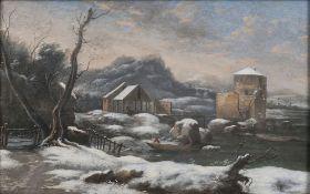 Peter von Bemmel (Nürnberg 1685 - Regensburg 1754), zugeschr. Winter am Fluss.