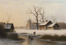 Johann Gustav Lange (Mülheim/R. 1811 - Düsseldorf 1887). Tiefer Winter.