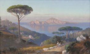 Ascan Lutteroth (Hamburg 1842 - Hamburg 1923). Blick auf Capri.