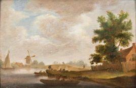 Pieter Jansz. van Asch (Delft 1603 - Delft 1678), zugeschr. Flusslandschaft.