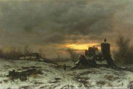 Joseph Heydendahl (Düsseldorf 1844 - Düsseldorf 1906). Winterabend.