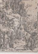 Albrecht Dürer (Nürnberg 1471 - Nürnberg 1528). Die Marter der Zehntausend von Nikodemien.