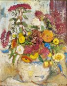 Lisel Oppel (Bremen 1897 - Worpswede 1960). Sommerblumen. Öl/Karton, 42 x 33,5 cm, r. u. monogr. und