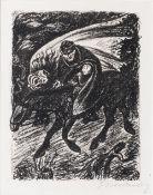 Ernst Barlach (Wedel/Holst. 1870 - Rostock 1938). Erlkönig I. 1924, Lithographie, 25,5 x 20 cm, r.
