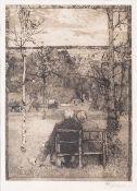 Heinrich Vogeler (Bremen 1872 - Karaganda/Sibirien 1942). Im Mai. Radierung und Aquatinta, 31,5 x 23