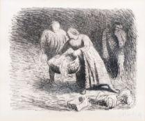 Ernst Barlach (Wedel/Holst. 1870 - Rostock 1938). Die Wiege. Lithographie, 25 x 31 cm, r. u. mit