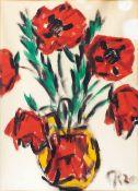 Christian Rohlfs (Niendorf/Holstein 1849 - Hagen/Westfalen 1938). Roter Mohn. Wassertempera, 76 x