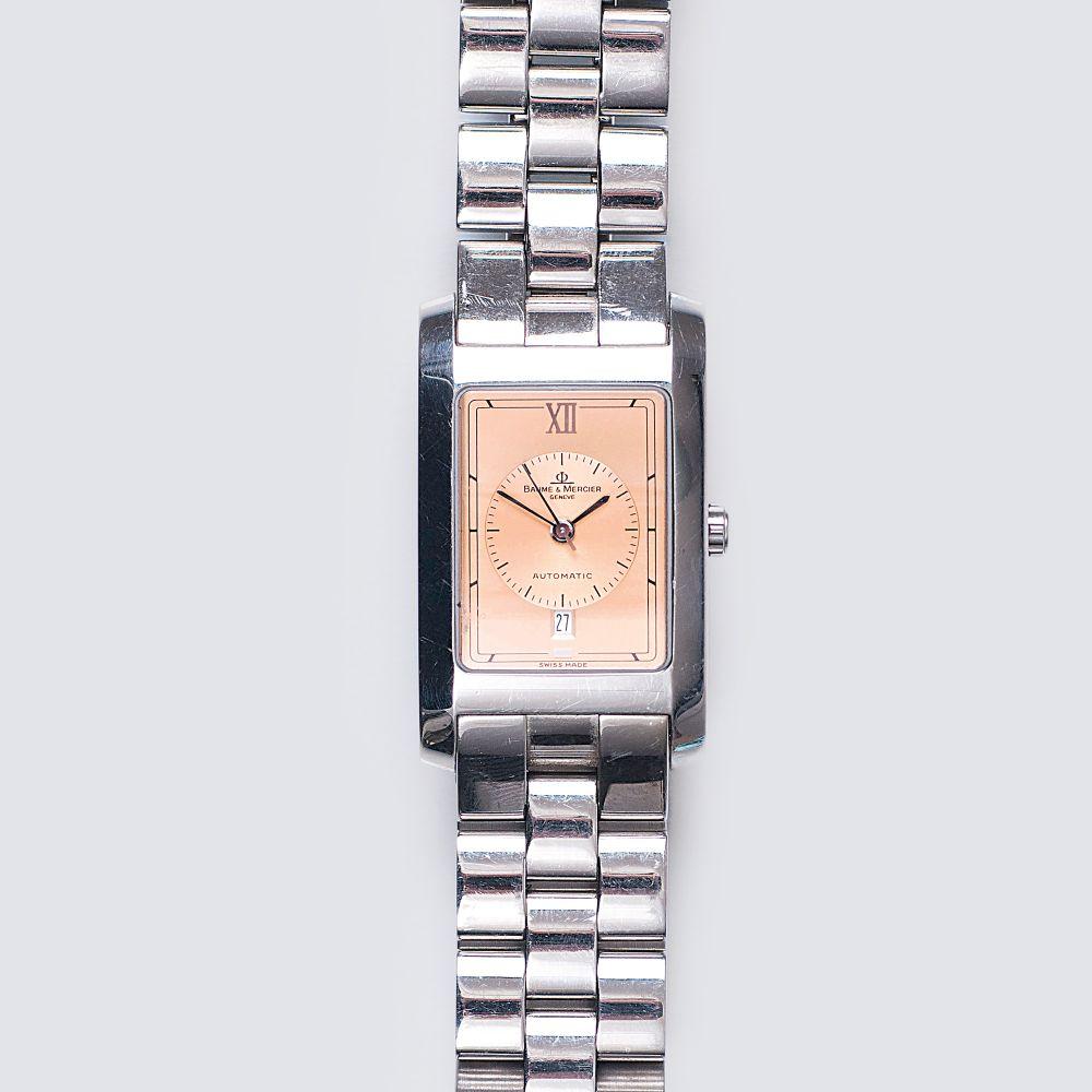 Baume & Mercier Genf, ab 1920. Herren-Armbanduhr 'Hampton'. Edelstahl. Automatik. Bronze-farbenes