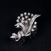 Vintage Diamant-Brillant-Brosche.