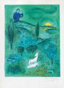 Marc Chagall (Witebsk 1887 - Paris 1985). Daphnis und Chloe: Lamon entdeckt Daphnis.