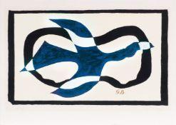 Georges Braque (Argenteuil 1882 - Paris 1963). Oiseau traversant un nuage.