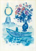 Marc Chagall (Witebsk 1887 - Paris 1985). Bateau Mouche au Bouquet.