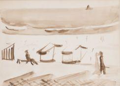 Ferdinand Schirren (Antwerpen 1872 - Brüssel 1944). Am Strand.