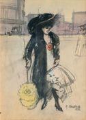 Ernst Matthes (Düsseldorf 1878 - Westfront 1918). Elegante Berlinerin.