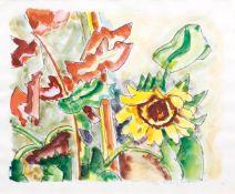 Ivo Hauptmann (Erkner 1886 - Hamburg 1973). Sonnenblumen.