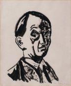Ivo Hauptmann (Erkner 1886 - Hamburg 1973). Selbstportrait.
