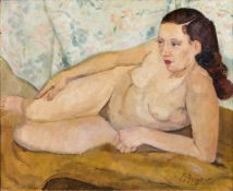 Bruno Beye (Magdeburg 1895 - Magdeburg 1976). Liegender Akt.