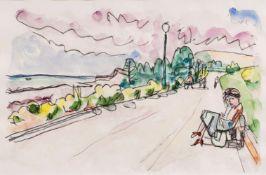 Ivo Hauptmann (Erkner 1886 - Hamburg 1973). Auf der Promenade.