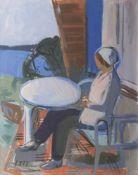 Erich Hartmann (Elberfeld 1886 - Hamburg 1974). Auf der Terrasse.
