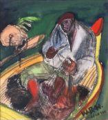 Willy Robert Huth (Erfurt 1890 - Berlin 1977). Fischer auf Hiddensee.
