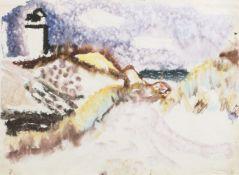 Eduard Bargheer (Hamburg 1901 - Hamburg 1979). Leuchtturm in Kampen.