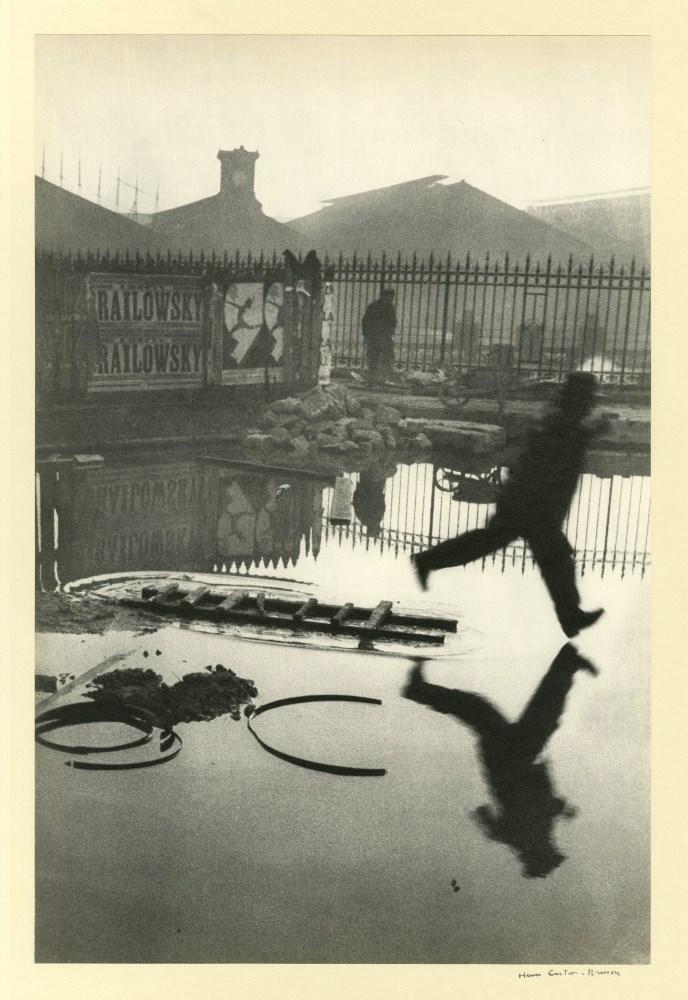 HENRI CARTIER-BRESSON - Behind the Gare St. Lazare - Original vintage photogravure
