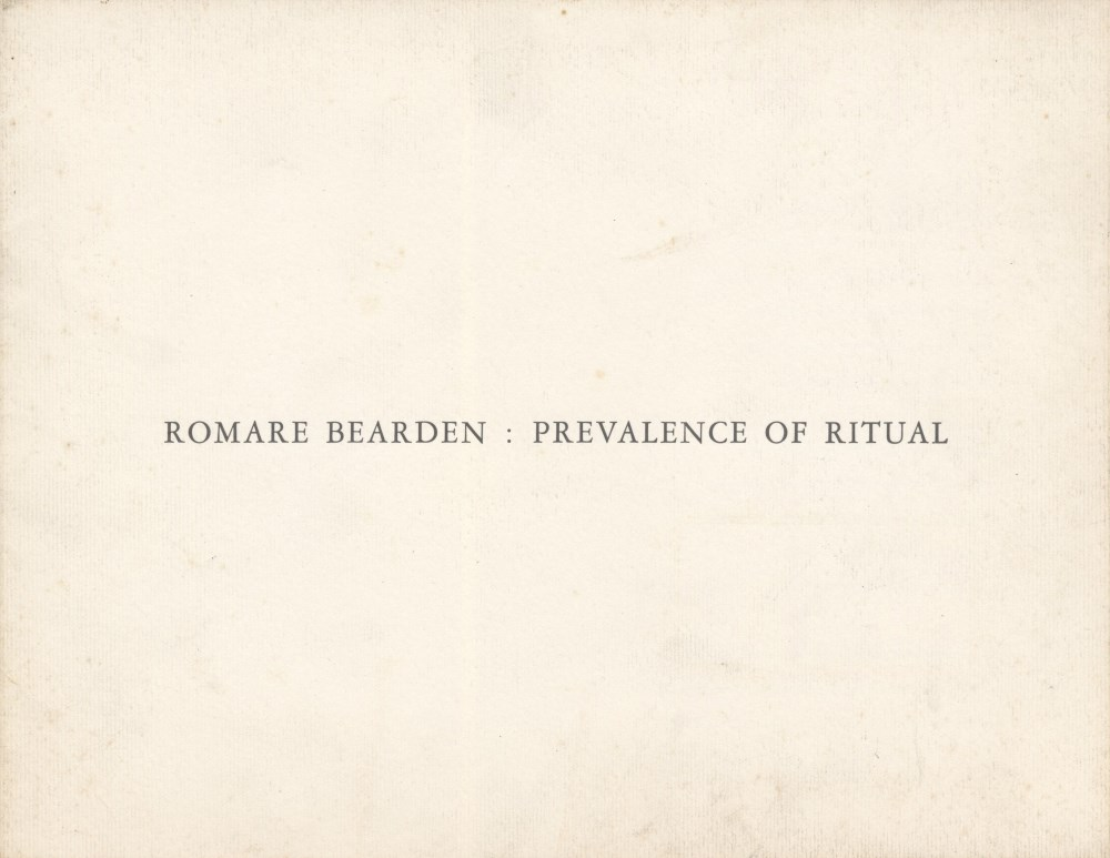 ROMARE BEARDEN - Salome with the Head of John the Baptist - Original color silkscreen - Image 2 of 3