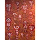 KARIMA MUYAES - Tzompantli - Acrylic on canvas