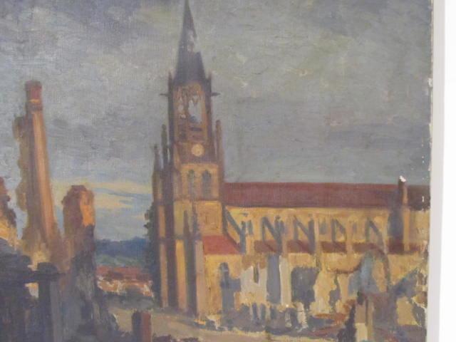 GEORGES PLASSE - Eglise au Baccarat - Oil on canvas - Image 3 of 6