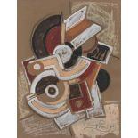 FRANTISEK KUPKA - Elements mecaniques - Gouache, charcoal, and chalk drawing on paper