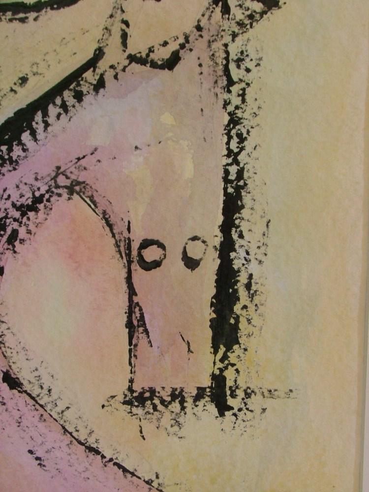 WIFREDO LAM - El Par - Gouache on paper - Image 4 of 6