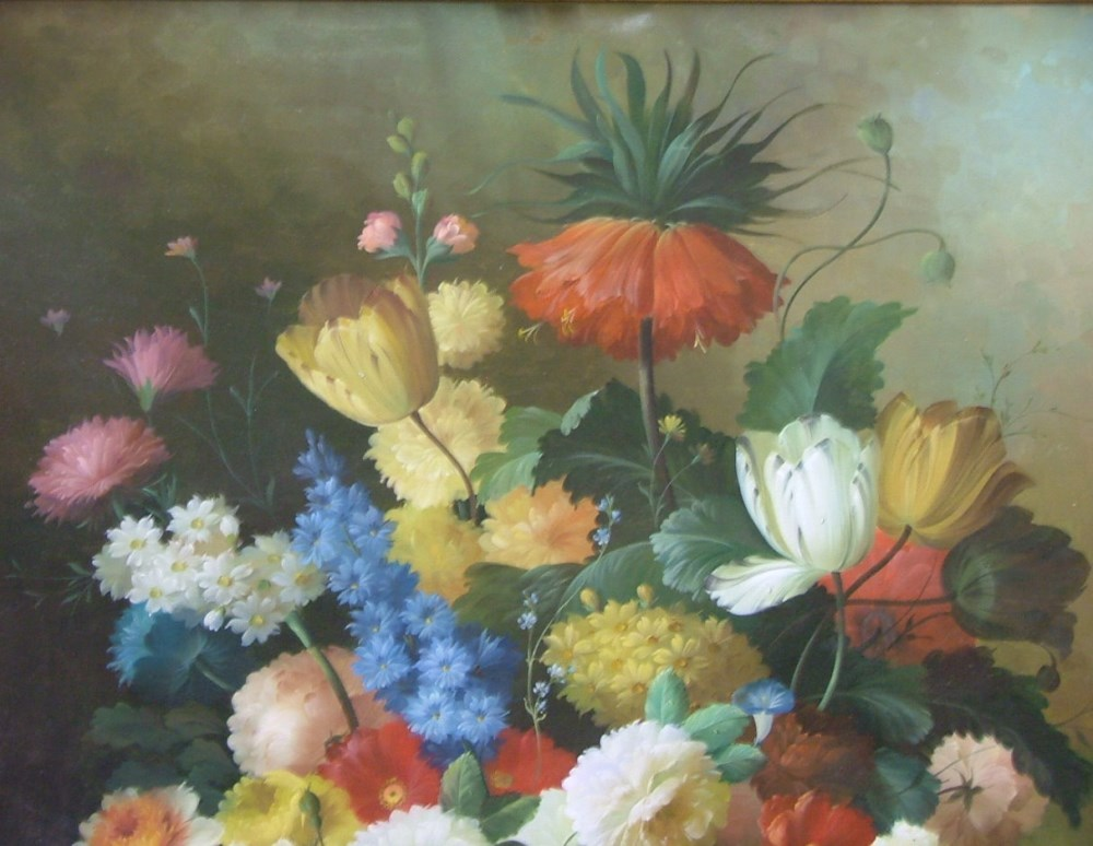 THOMAS A. LEE - Floral Still Life - Oil on canvas - Image 4 of 10