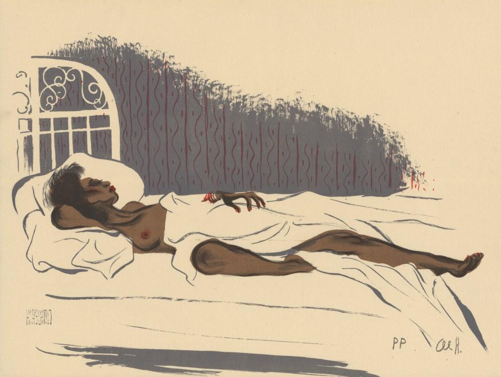 AL HIRSCHFELD - Cocoa Venus - Original color lithograph
