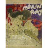 PIERRE BONNARD - Moulin Rouge - Original color lithograph, after the drawing