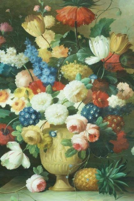 THOMAS A. LEE - Floral Still Life - Oil on canvas - Image 2 of 10