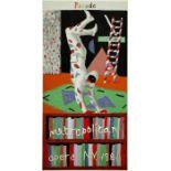 DAVID HOCKNEY - Parade, Metropolitan Opera, N.Y., 1981 - Color silkscreen