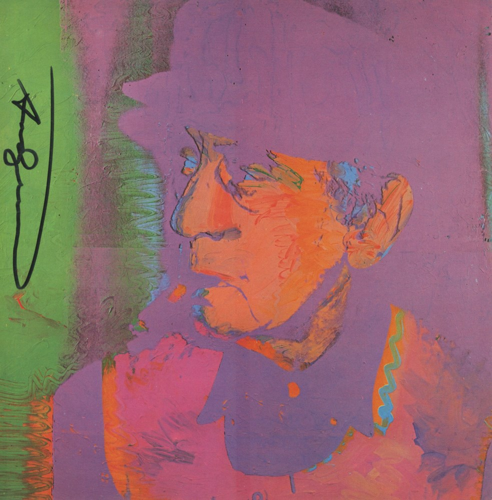 ANDY WARHOL - Man Ray #1 - Color offset lithograph