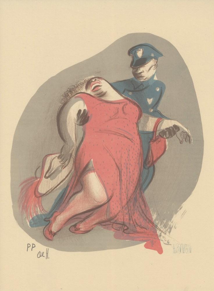 AL HIRSCHFELD - Plastered - Original color lithograph