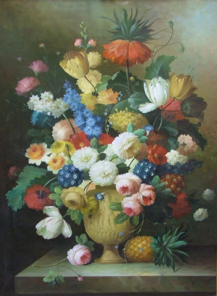THOMAS A. LEE - Floral Still Life - Oil on canvas - Image 3 of 10